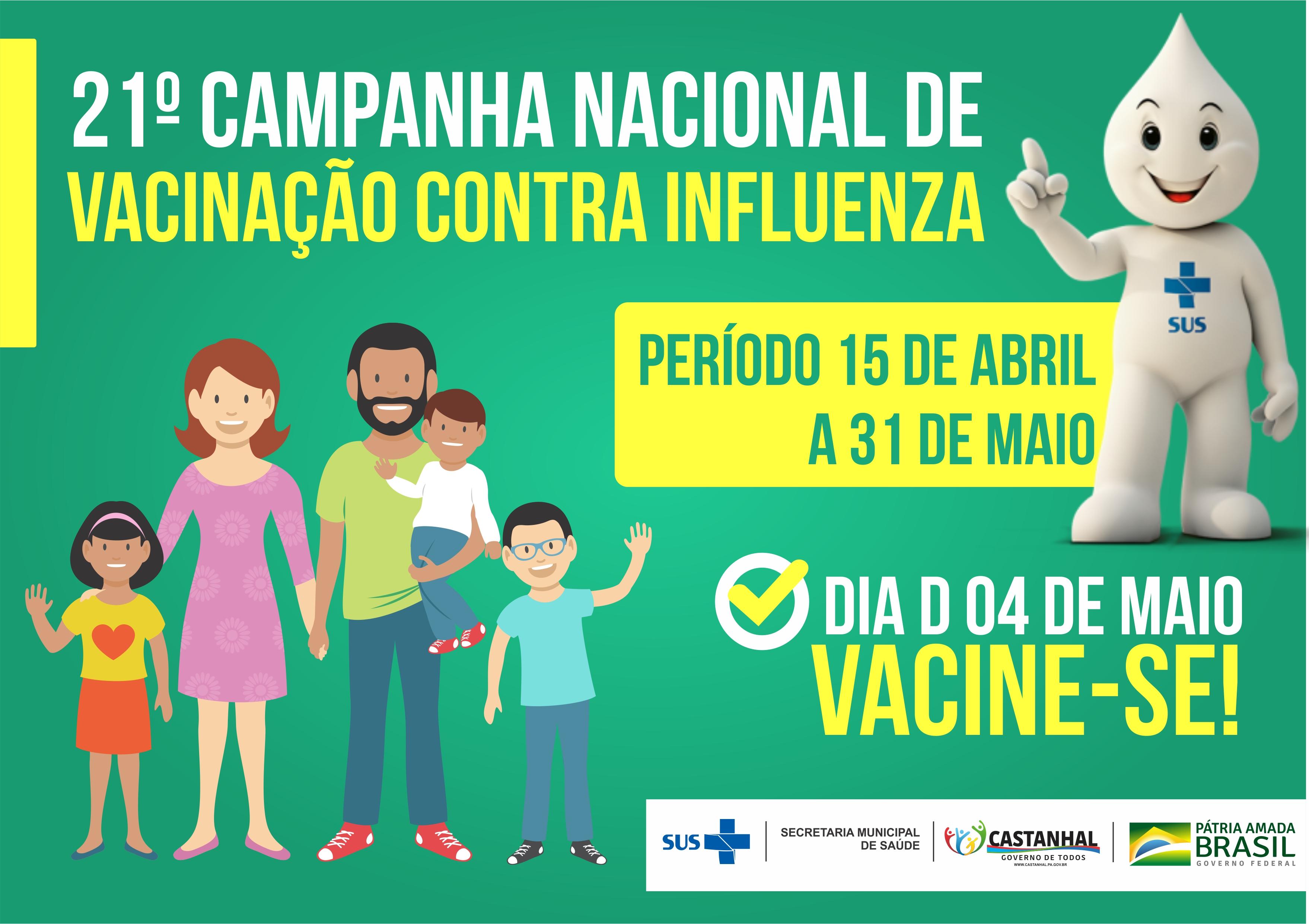 Resultado de imagem para dia d da vacinação da gripe 2019